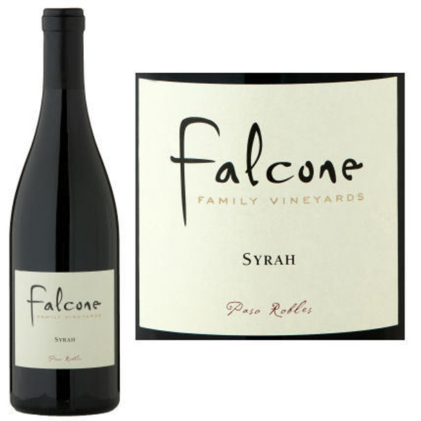 12 Bottle Case Falcone Paso Robles Syrah 2016 w/ Free Shipping