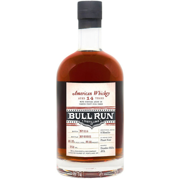 Bull Run 13 Year Old Pinot Noir Finish American Whiskey 750ml