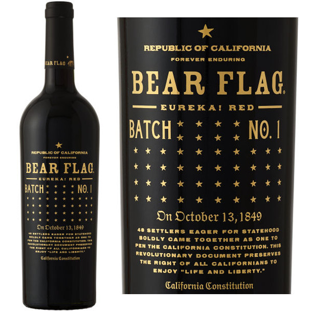Bear Flag California Eureka! Red