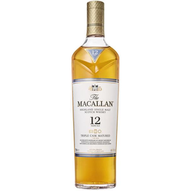 Macallan 12 Year Old Triple Cask Highland Single Malt Scotch 750ml