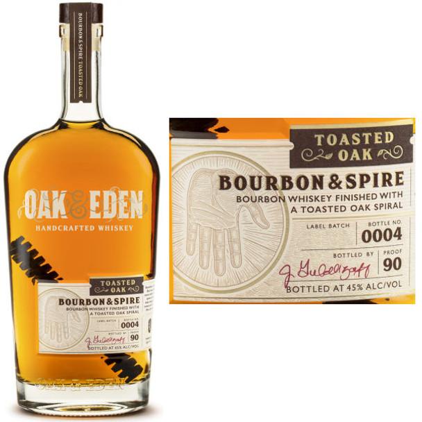 Oak & Eden Bourbon & Spire Toasted Oak Finish Bourbon 750ml