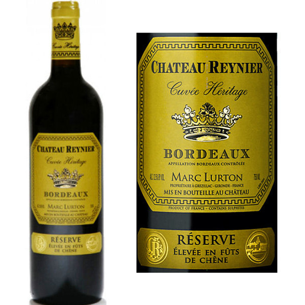 Chateau Reynier Cuvee Heritage Reserve Bordeaux