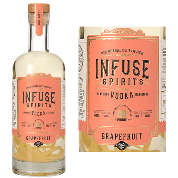 Infuse Spirits Grapefruit Vodka 750ml