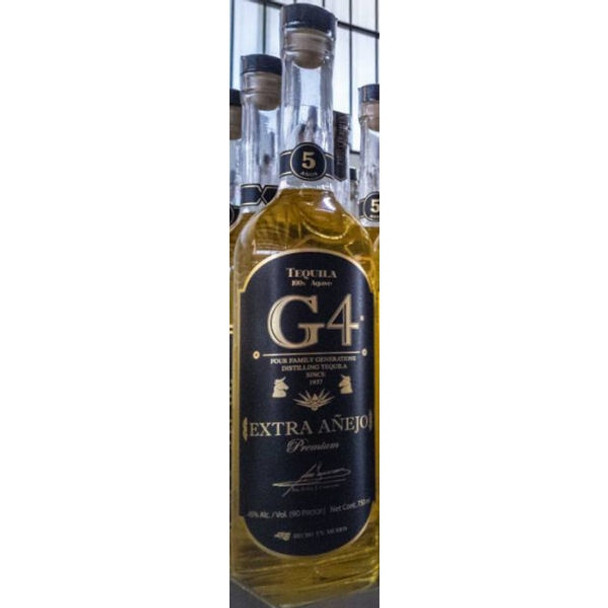 G4 TBC Extra Anejo 5 Year Tequila 750ml 6 Bottle Case With Free Shipping