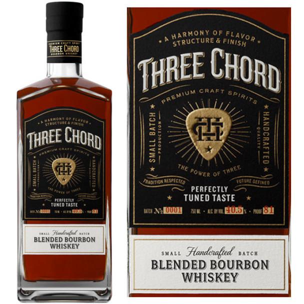 Three Chord by Neil Giraldo Blended Bourbon Whiskey 750ml