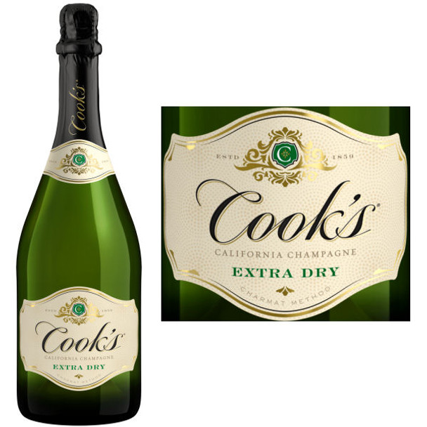 Cook's Extra Dry California Champagne NV