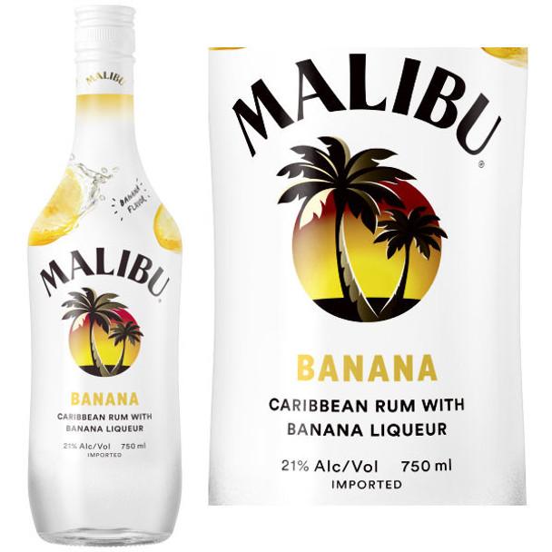Malibu Banana Flavored Rum 750ml