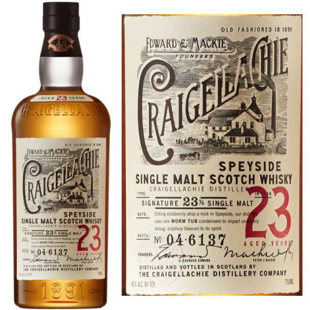 Craigellachie 23 Year Old Single Malt Scotch 750ml