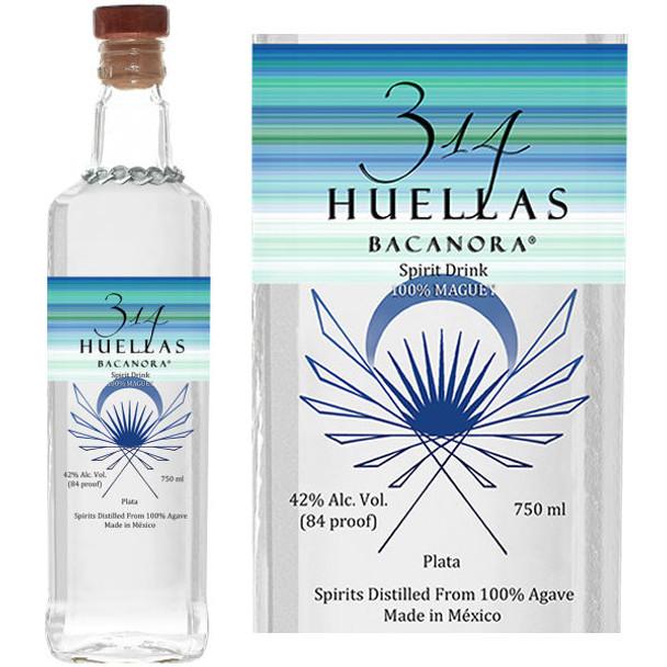 314 Huellas Bacanora Plata 750ml