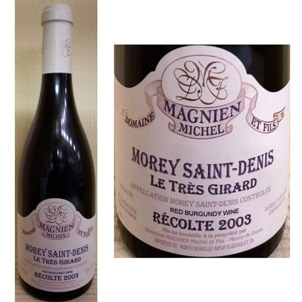 Domaine Magnien Michel Morey Saint-Denis Le Tres Girard Red Burgundy