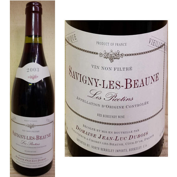 Domaine Jean-Luc Dubois Savigny-Les-Beaune Les Picotins Red Burgundy