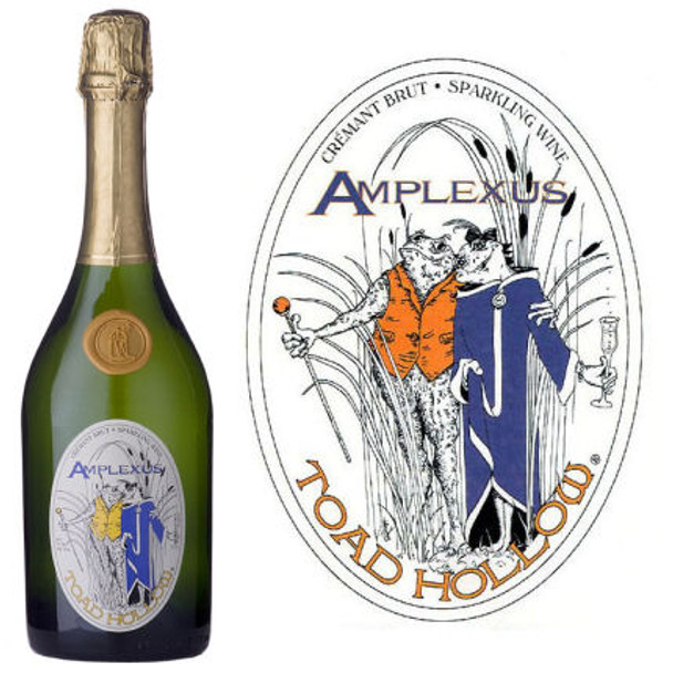 12 Bottle Case Toad Hollow Amplexus Cremant Brut Sparkling Wine Limoux-Languedoc NV w/ Free Shipping