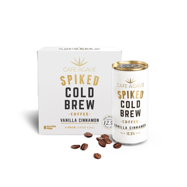 Cafe Agave Spiked Cold Brew Vanilla Cinnamon Coffee 4-Pack