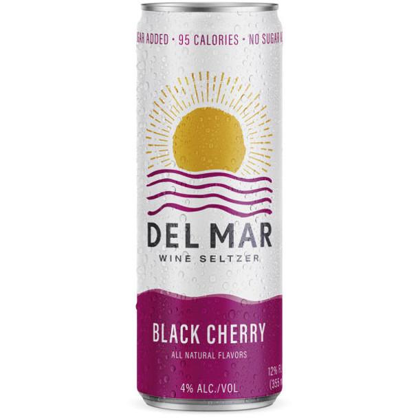Del Mar Black Cherry Wine Seltzer 12oz 4 Pack Cans