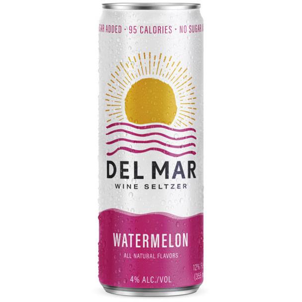 Del Mar Watermelon Wine Seltzer 12oz 4 Pack Cans