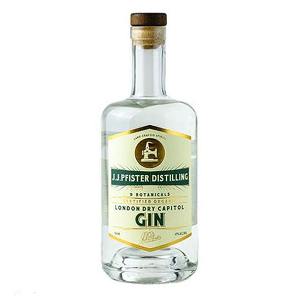 J.J. Pfister Organic London Dry Capitol Gin 750ml