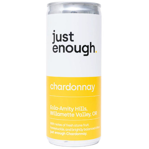 Just Enough Eola-Amity Hills Willamette Chardonnay Oregon 250ml Can