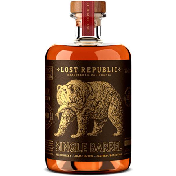 Lost Republic Single Barrel Rye Whiskey 750ml