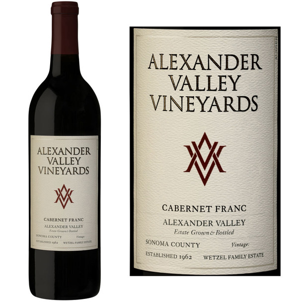 Alexander Valley Vineyards Wetzel Family Estate Alexander Cabernet Franc