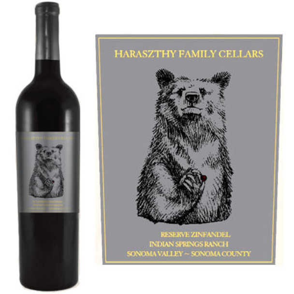 Haraszthy Reserve Indian Springs Ranch Sonoma Zinfandel