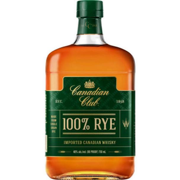 Canadian Club 100% Rye Canadian Whisky 750ml