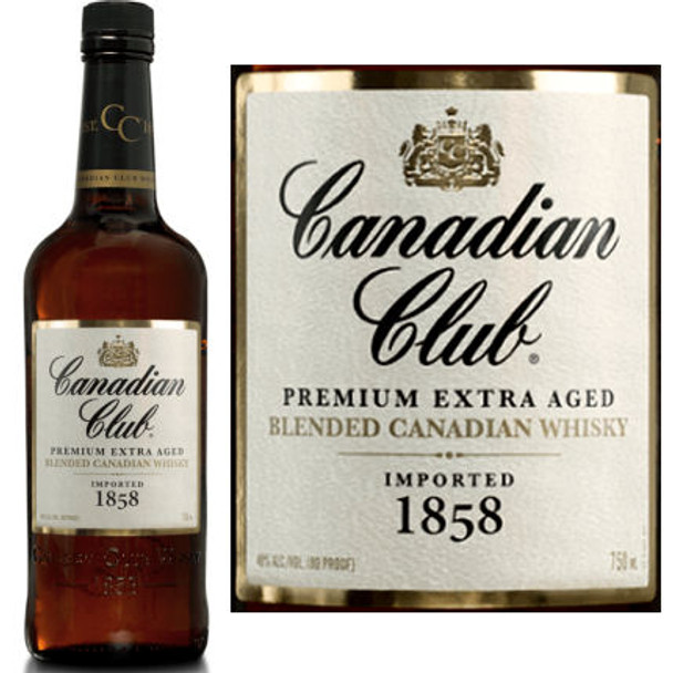 Canadian Club 1858 Premium Extra Aged Blended Canadian Whisky 750ml