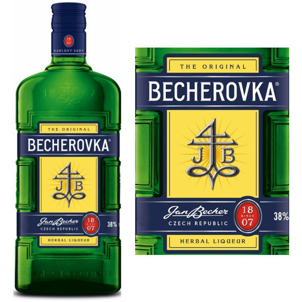 Carlsbad Becherovka Herbal Liqueur Czech Republic 750ml