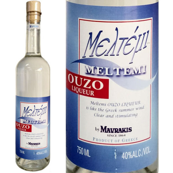 Mavraki Meltemi Ouzo Greek Liqueur 750ml