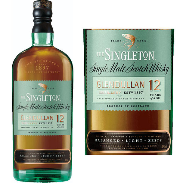 Singleton of Glendullan 12 Year Old Single Malt Scotch 750ml