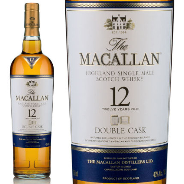 Macallan 12 Year Old Double Cask Highland Single Malt Scotch 750ml
