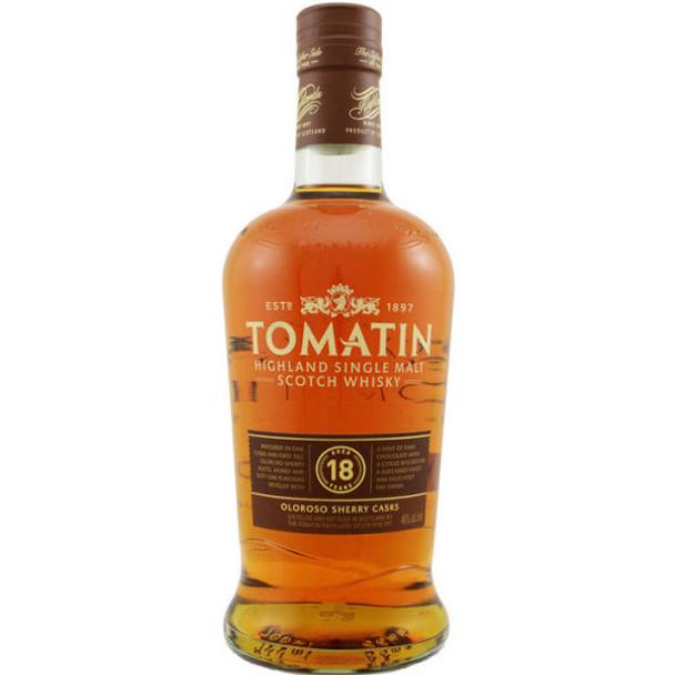 Tomatin 18 Year Old Oloroso Sherry Casks Highland Single Malt Scotch 750ml