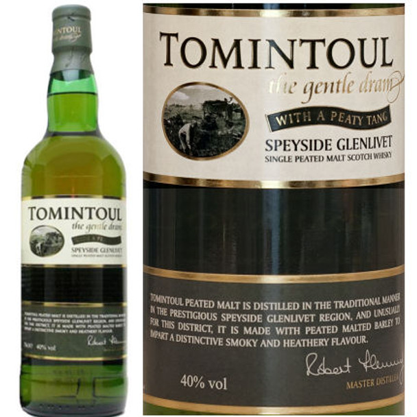 Tomintoul Peated Speyside Glenlivet Single Malt Scotch 750ml