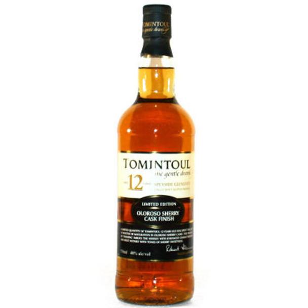 Tomintoul Oloroso Cask Finish 12 Year Old Speyside Glenlivet Single Malt Scotch 750ml
