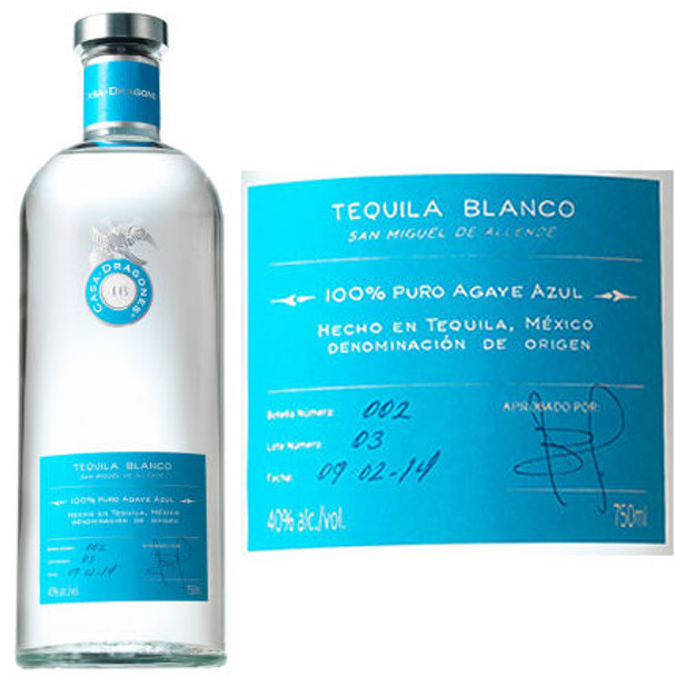 Casa Dragones Blanco Tequila 750ml