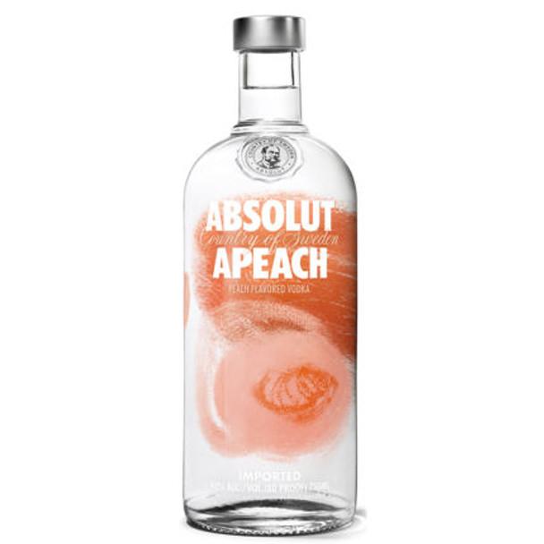 Absolut Apeach Swedish Grain Vodka 750ml