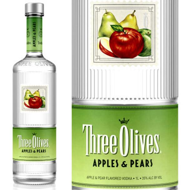 Three Olives Apples & Pears Vodka 750ml