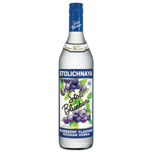 Stolichnaya Blueberi Flavored Russian Vodka 750ml