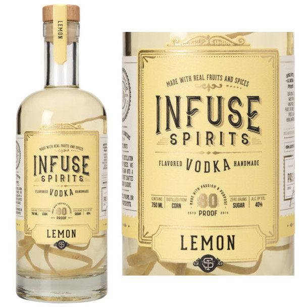 Infuse Spirits Lemon Vodka 750ml