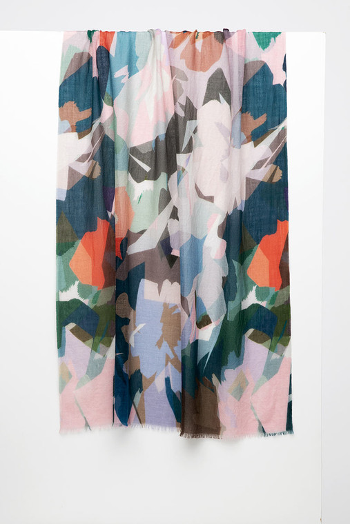 Stained Glass Floral Print Scarf