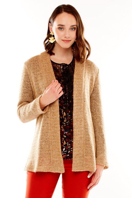 Open Drape Knit Cardigan