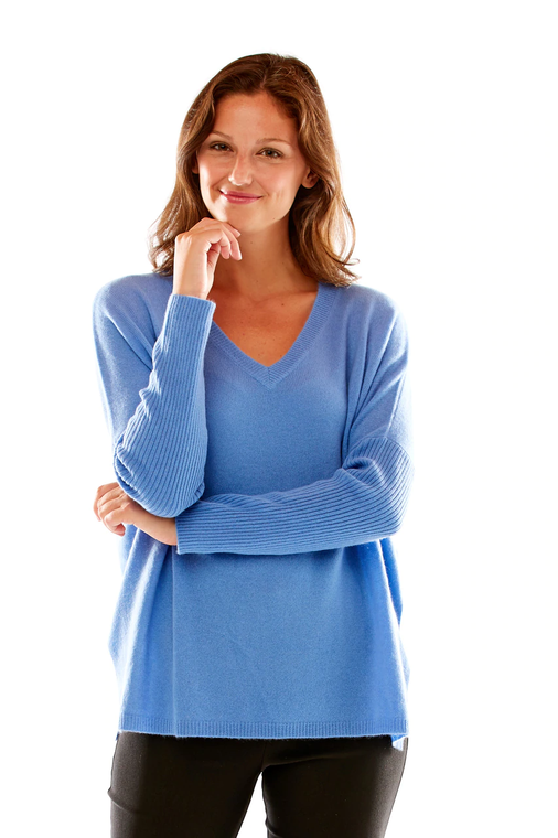 Cashmere Pullover With Ribbed Sleeves
