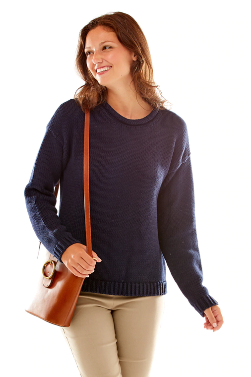 Cotton Roll Neck Pullover