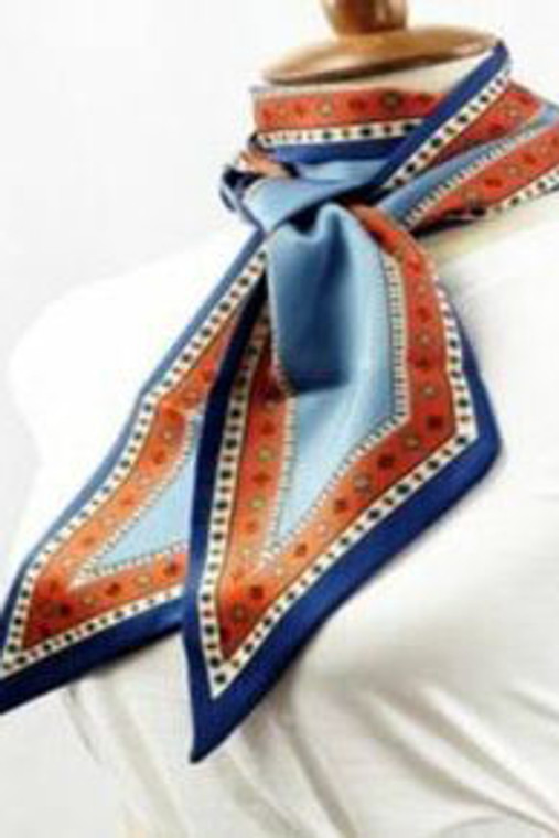 Jewel Detailed Small Printed Scarf