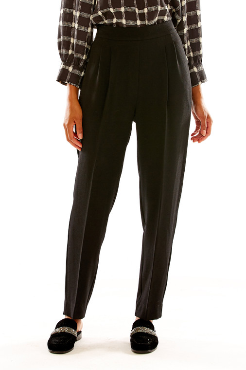 Crepe Pant With Elastic Back