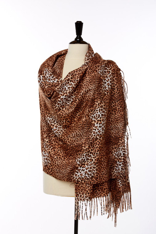 Stacy Scarf in Leopard
