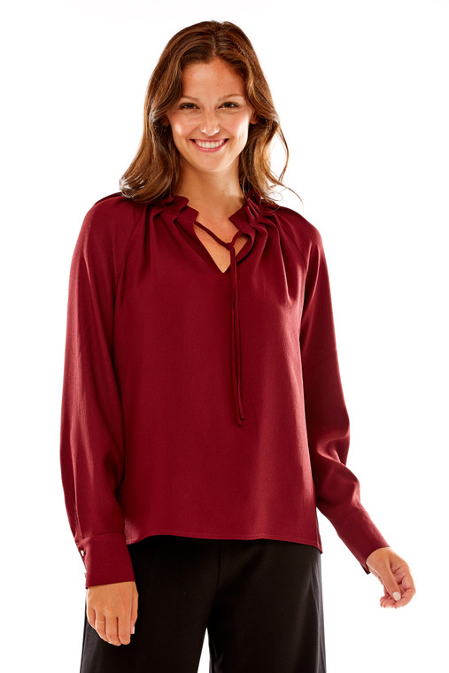 Tie Neck Soft Blouse