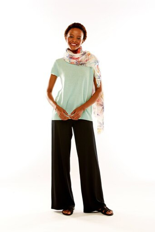 Knit Pant With Fold Over Waistband