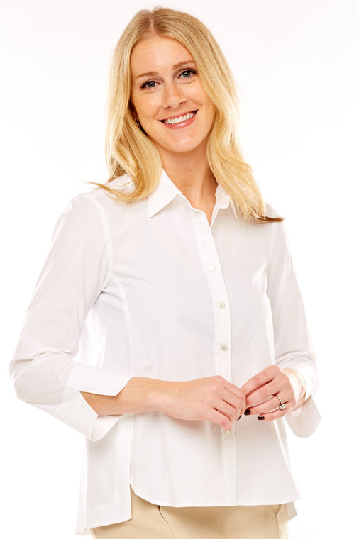 Swing Shirt With Cuffed Sleeves
