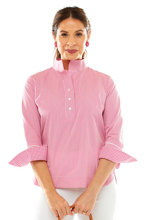 3/4 Popover Shirt With Placket and Back Slit Cuff