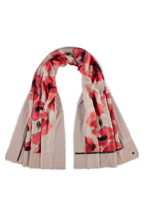 Poppies Patchwork Scarf